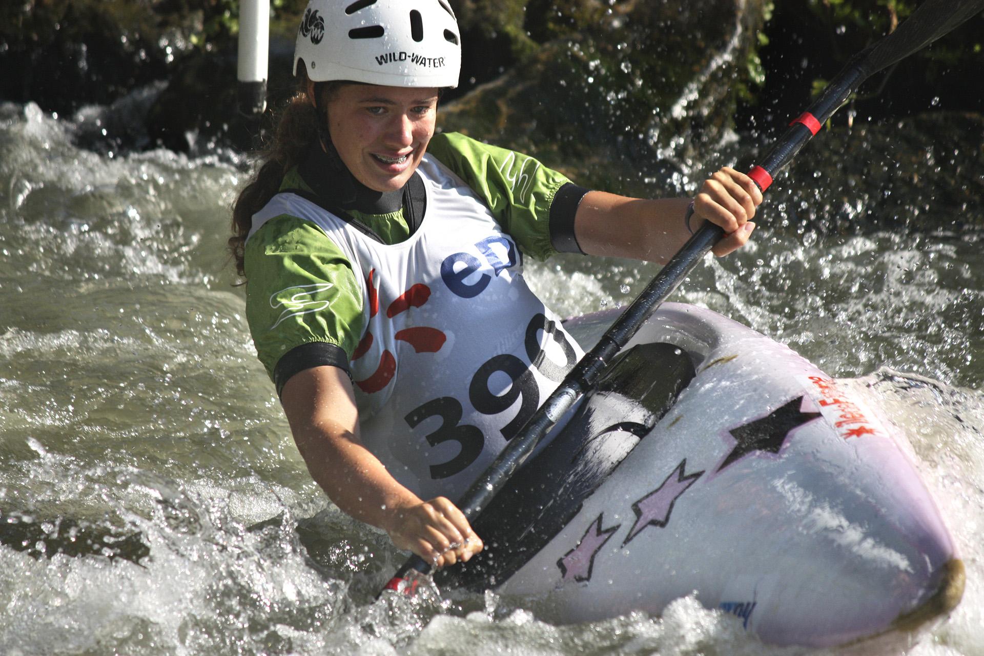 Adèle la plus messine des torcéennes aux Championnats de France de slalom 2014.