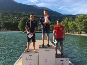 Podium Mathis Piges descente C1 / Embrun 2017
