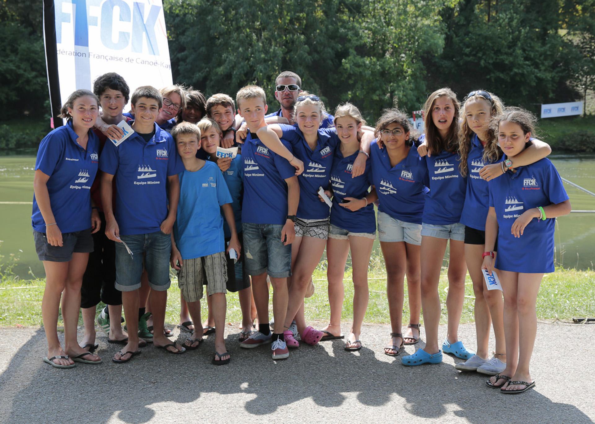 L'équipe minime d'Île-de-France, 4ème du CNJ